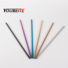 gold / rose gold / black / rainbow / stainless steel 304 drinking straw in 215mm length