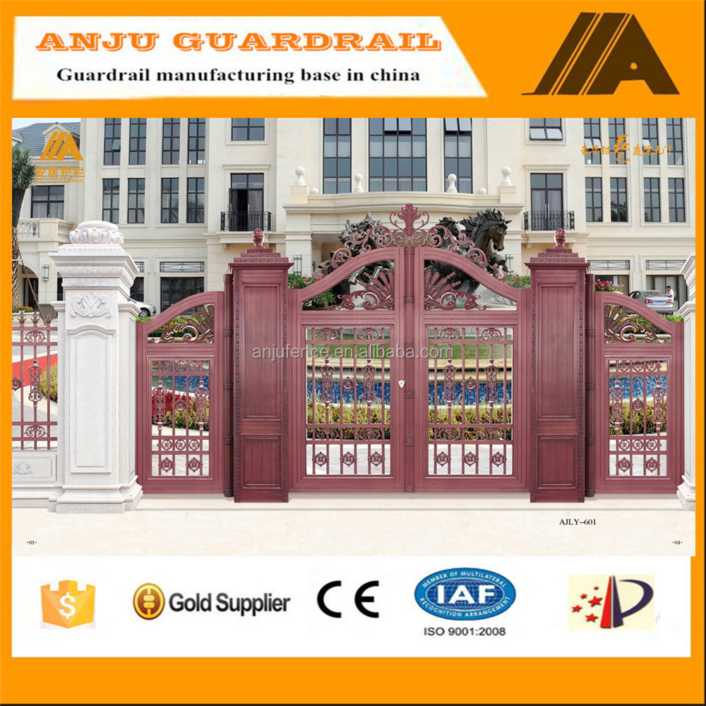 2016 fashion garden cast dececoration aluminum gate AJLY-601