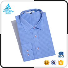 Check Shirts for men 100% cotton european urban party wear slim fit long sleeve manufacturer