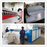 800mm roller diameter automatic steam Bed Sheet press machine steam iron/commercial sheet ironing machine