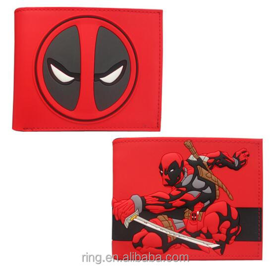 New Designer DEADPOOL WALLET Student DC Comics Cartoon Wallet & Purse ID Credit Card Holder Leather Bag Cool Wallet For Men