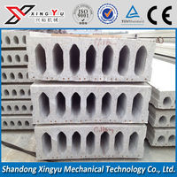 prestressed hollow core concrete roof slabs building machine