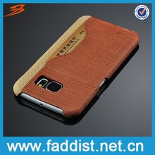Fashion coming trend leather phone case for Samsung Galaxy S6, card holder case