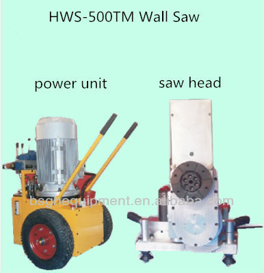 HWS-500TM hydraulic concrete cutting saw machine,concrete and stone cutting equipment,beton cutter