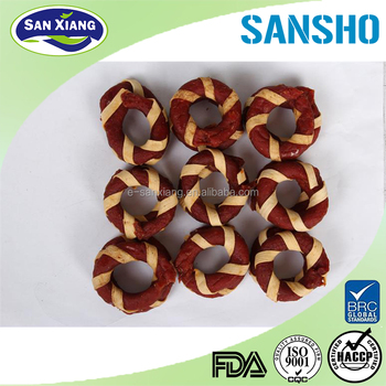 wholesale cod duck ring dog snack dog treats