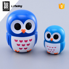 mini animal shape plastic lip balm container