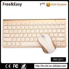 Ultra Slim 2.4g wireless bluetooth mouse and keyboard combo for laptop pc