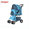 Newly Design 4 wheel pet trolleys Cat / Dog Easy Walk Folding Travel Carrier Carriage Pet Stroller