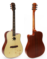 41 inch high quality acoustic guitar with special soundhole