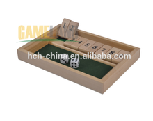 Wooden Shut The Box Game Dice Games Intelligence Dice Games