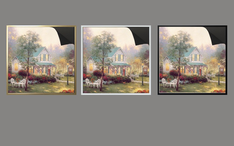 outside post decoration magnetic frame & print magnetic painting Thomas kindaids paintings 1013-151