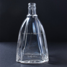 500ml high quality disposable unique shaped glass storage bottle for wine liquor beer whisky vodka wholesale