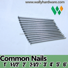 1/2 inch high quality black /galvanized zinc common nail carbon steel wire nail steel iron nail /Clavos