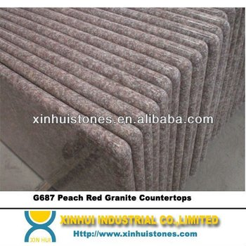 G687 Peach Red Granite Countertops,G687 countertop