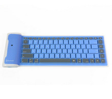 Foldable colorful bluetooth medical silicone keyboard 87 keys