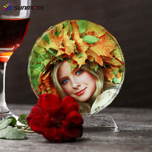 sublimation crystal photo BSJ03B DIA 150mm ,DIY birthday gifts
