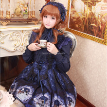 High quality girls cosplay dress Lolita Palace style dress