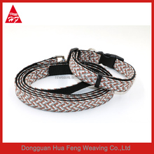 newest braided multi cute outdoor dog collar and lesah