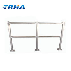 Supermarket crowd control Metal Fence Chrome removable handrail