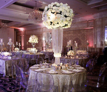 hanging crystal table top flower stand centerpieces for wedding table