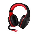 Soft big earcups 2.4G optic wireless gaming stereo headset game consoles PC wireless gaming headphone with detachable microphone