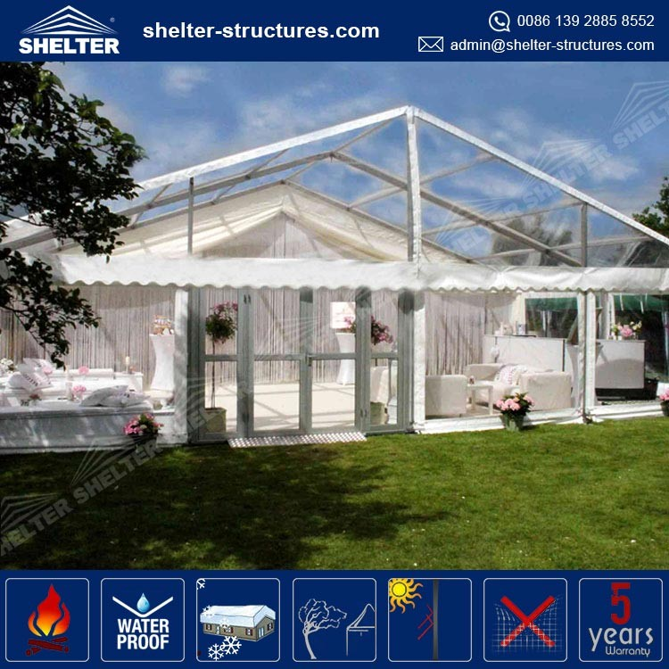 Wholesale price hot sale clear span wedding hall decorations tent