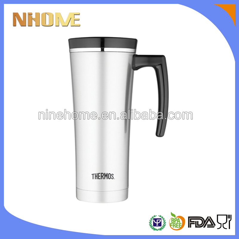 PersonalIzed 400ml car aoto stainless steel coffee travel mug with handle