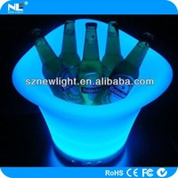 NEW product PE plastic party led , rechargeable 16 color changing Bar led ice bucket for beer outdoor in the bar seaside