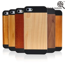 New style Genuine wood jordan bamboo wood case cover for iphone 5