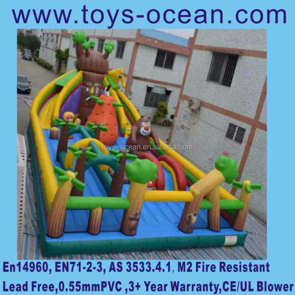 Giant inflatable jungle theme animal outdoor children playground