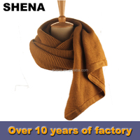 shena new style winter knitting pashmina scarf manufacturer