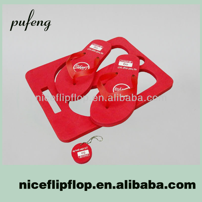 Hot sale high quality cheap girl's PVC board custom logo slippers