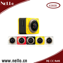 Hottest new products 360 degree panoramic view wifi Sports Camera with waterproof case