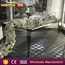 black mirror tempered glass wedding dining table