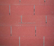 Red 3-tab asphalt roof shingle
