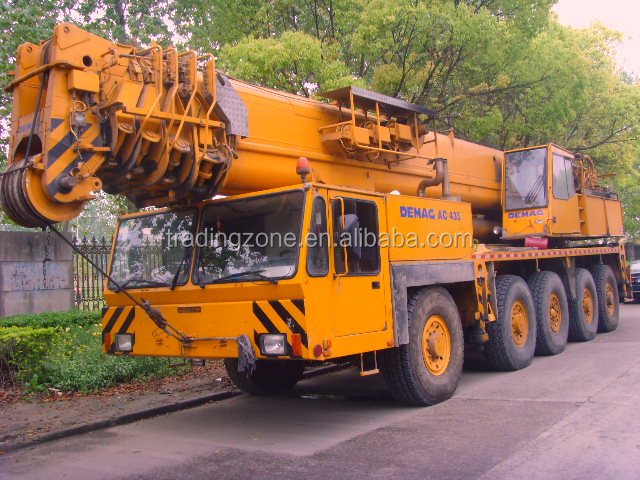 Used DEMAG 150 ton hydraulic mobile crane, 150 ton DEMAG AC435 all terrain crane , made in Germany