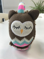 Funny ear muff winter knit warm earmuffs Exquisite owl animal pattern