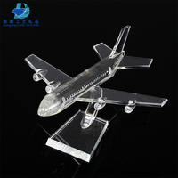 Airplane 3D Crystal Model Gifts Crafts