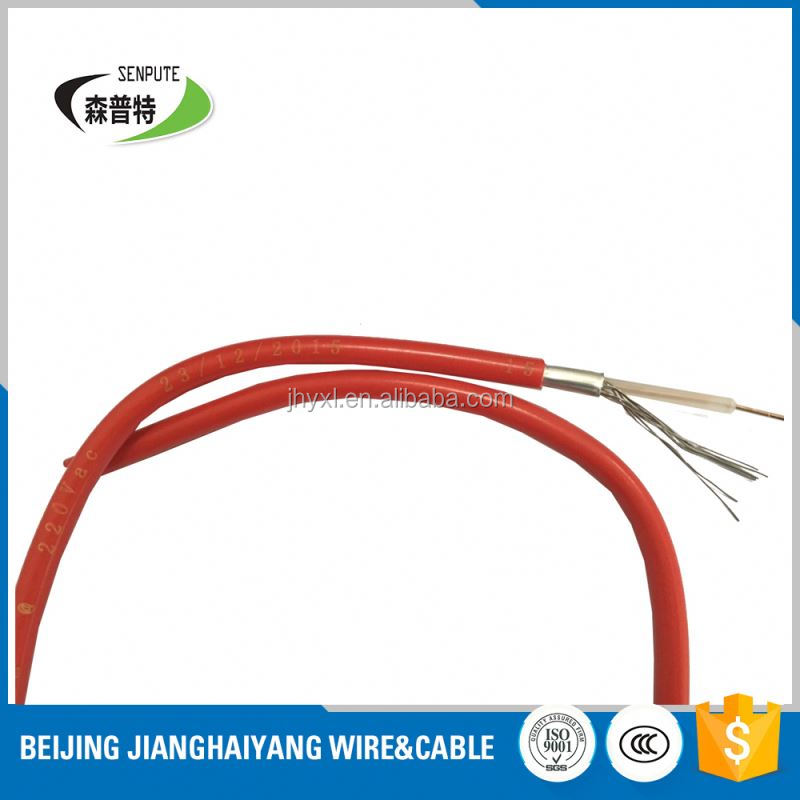 pvc jacket silicon rubber insulating heating cable/wire