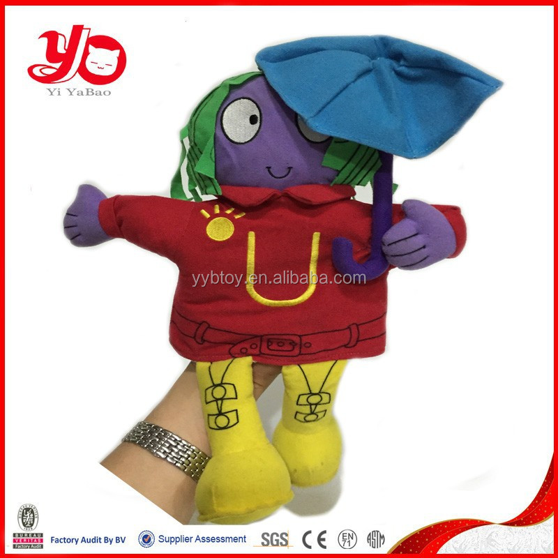 Custom hand puppet for kids plush hand puppet toy doll