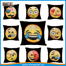 high quality Mermaid pillows reversible sequin Emoticon pillow emoji