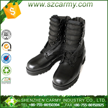High cut high density nylon and genuine leather military jungle boots