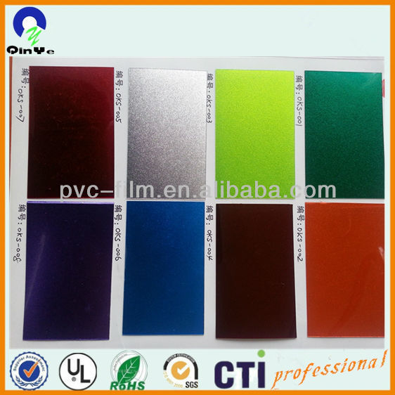 sparkle silver color pvc rigid film for drum wrap