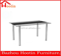 best selling cheap modern 4 seater tempered glass dining table