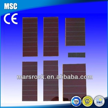 Small Thin Film Amorphous Silicon Solar Cells
