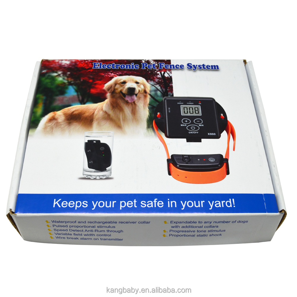 Rechargeable Waterproof Electronic Pet Fence On Dog X800