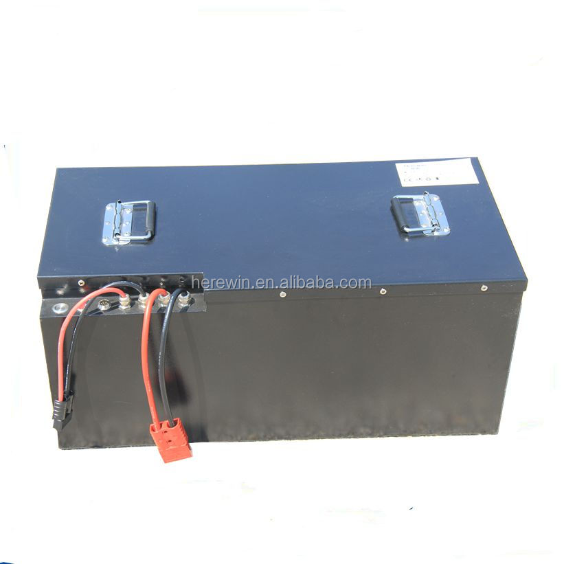 48volt lithium car battery pack rechargeable 48v 100ah forklift LiFePo4 bms battery