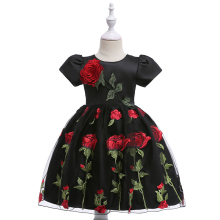 Wholesale Kids Event Ball Gown Fancy Black color Princess Frock Beautiful <strong>Girl</strong> Party <strong>Dress</strong> L5009