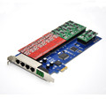 Factory price 16 ports analog card, single side with 8 dual FXO/FXS, PCI express Voip Card