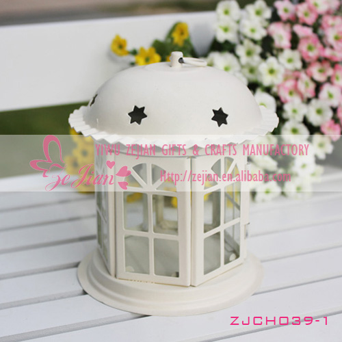 metal house candle holders wholesale for wedding favors